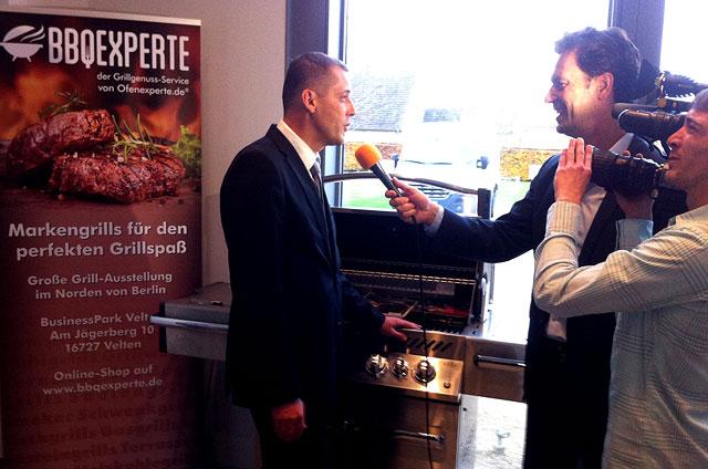Geschäftsführer René Bienek im TV-Interview
