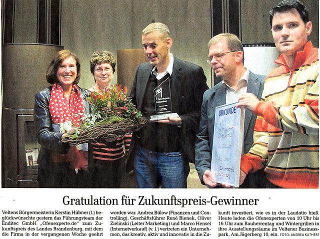 Märkische Allgemeine Zeitung - Neue Oranienburger Zeitung - 16. November 2013