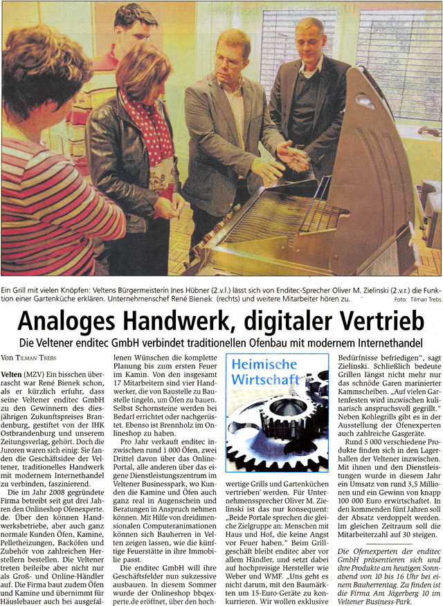 Oranienburger Generalanzeiger - 16. November 2013