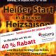 Sonderaktion für Olsberg Öfen zum Bauherrentag