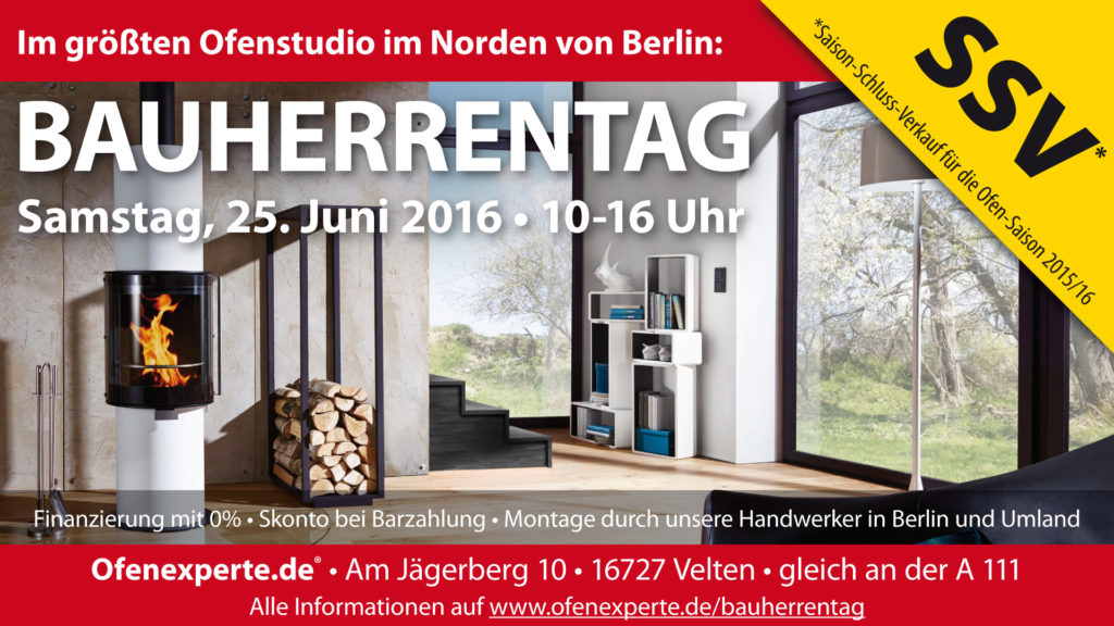 Bauherrentag bei Ofenexperte.de am 25.06.2016