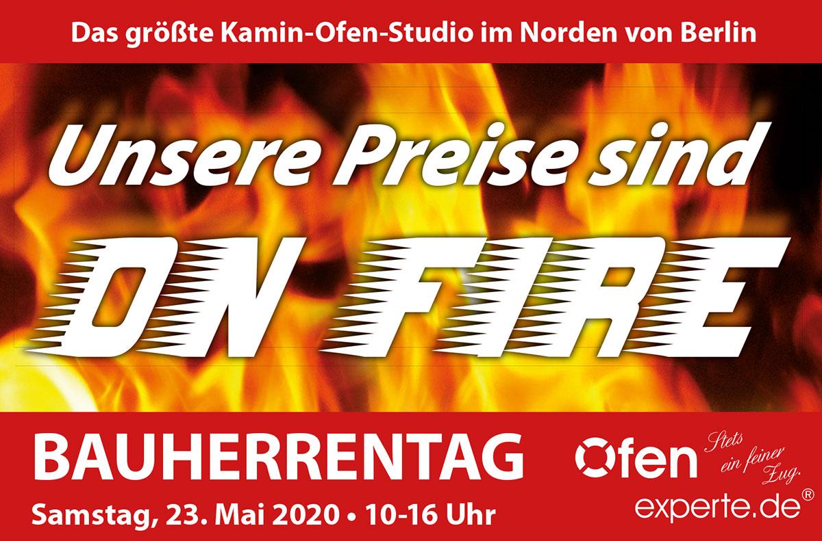 Bauherrentag, Samstag, 23. Mai2020 bei Ofenexperte.de