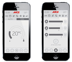 WLAN Smartphone für MCZ Pelletöfen
