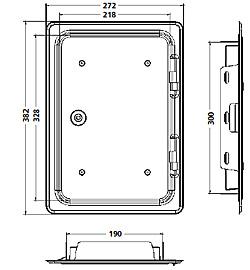 schornstein kamin reinigungst r 200 x 300 mm verzinkt ebay. Black Bedroom Furniture Sets. Home Design Ideas