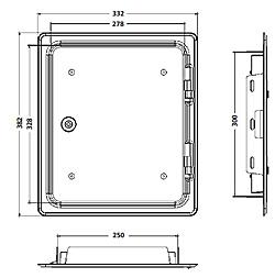 KG Rietberg Schornstein-Kamin-Reinigungst/ür UPMANN GmbH /& Co 300 x 300 mm Edelstahl