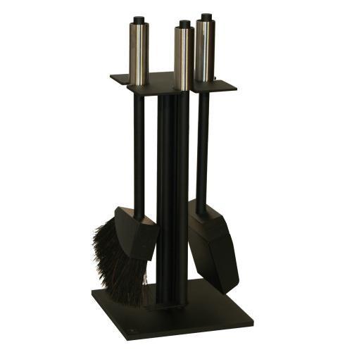 Red Anvil BlackMiniTower ToolBar-3 Kaminbesteck (3-teilig), Gestell pulverbeschichtet MattSchwarz, G