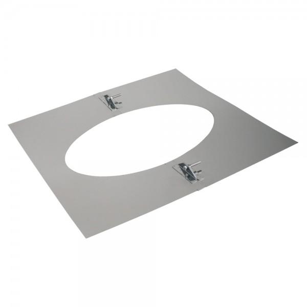 Deckenblende 2-teilig, 500 x 500 mm, 35° - 50°, Edelstahl, ø 113 mm (173 mm)