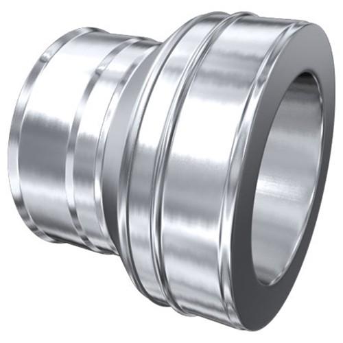 Schornstein, Reduzierung MKD 180 mm (240 mm) - MKS 150 mm aufgeweitet