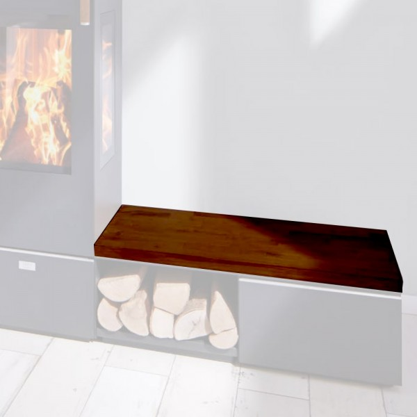 Cera Design Holzabdeckung gebeizt, Breite 44 x 88 cm, Kaminofen Santos und Santos plus