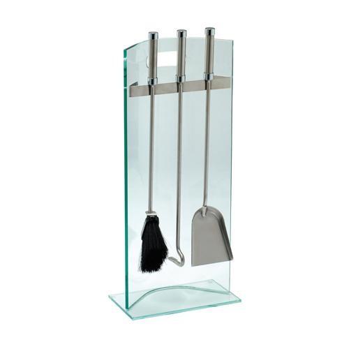 Kaminbesteck (3-teilig), Glas, Besteck Edelstahl