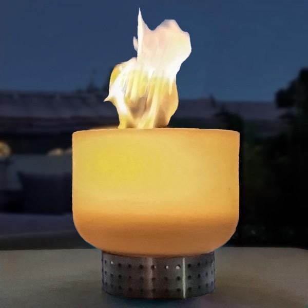 Beleza Q20_opaque STYLE Tischfeuer aus reinstem Quarzglas