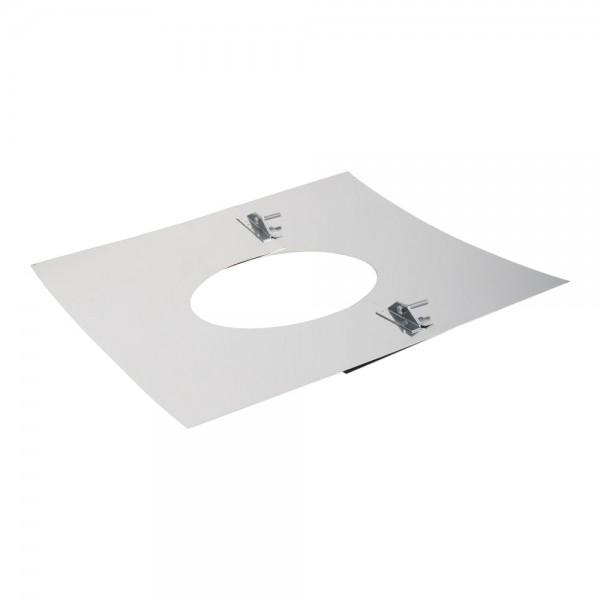 Deckenblende 2-teilig, 500 x 500 mm, 5° - 20°, Edelstahl, ø 120 mm (180 mm)