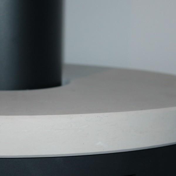 Topplatte Portstone feingeschliffen für viele DROOFF Kaminöfen
