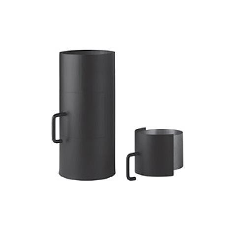 Ofenrohr, Rauchrohr, mit Tür, Drosselklappe und Rußauffangtopf, 130/500 mm