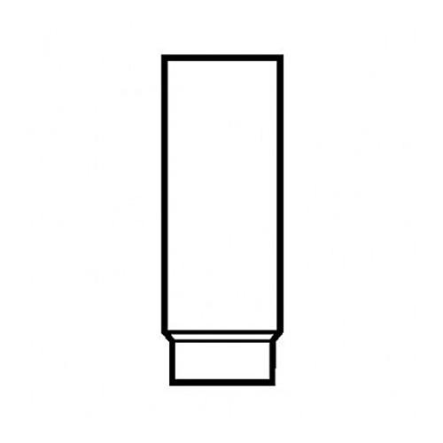 Ofenrohr, zylindrisch, eingezogen, gefalzt, weiß pulverbeschichtet, 130/1000 mm
