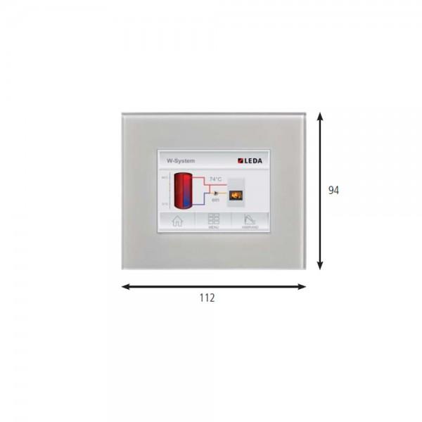 Grafikdisplay (inkl. UP-Gehäuse und 6 m Datenbusleitung)