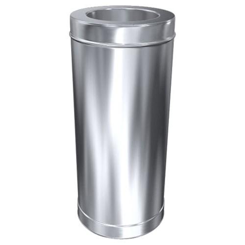 Schornstein, Rohr 1000 mm, Edelstahl, ø 200 mm (260 mm)