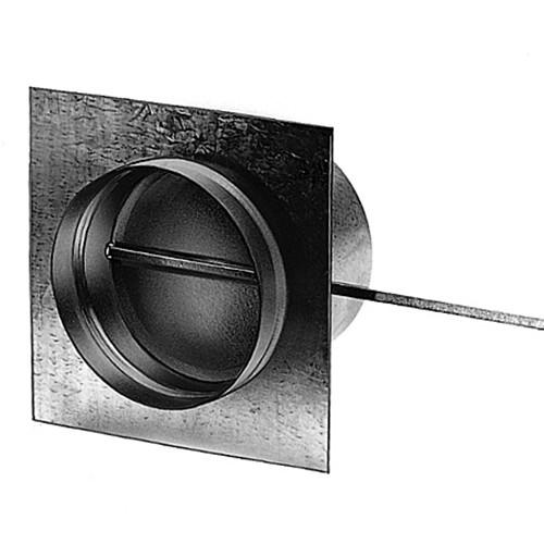 Zuluftklappe mit Gummidichtung und Flanschplatte, ø 180 mm, verzinkt