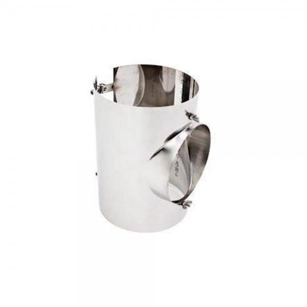 Sattelstück aus Edelstahl mit Bolzen, Baulänge 250 mm