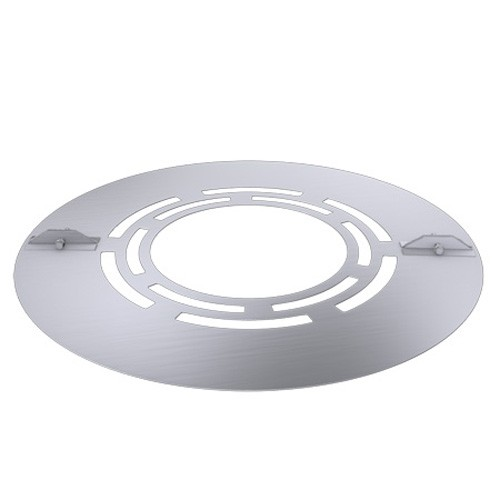 Deckenblende zweiteilig mit Hinterlüftung (Breite 120 mm), 30°, Edelstahl, für ø 180 mm