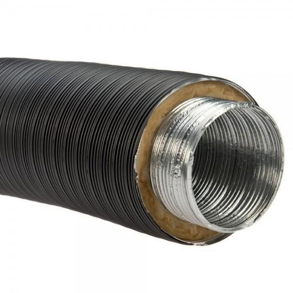 Aluflexrohr, isoliert, d 100 mm, hitzebeständig bis 200 °C