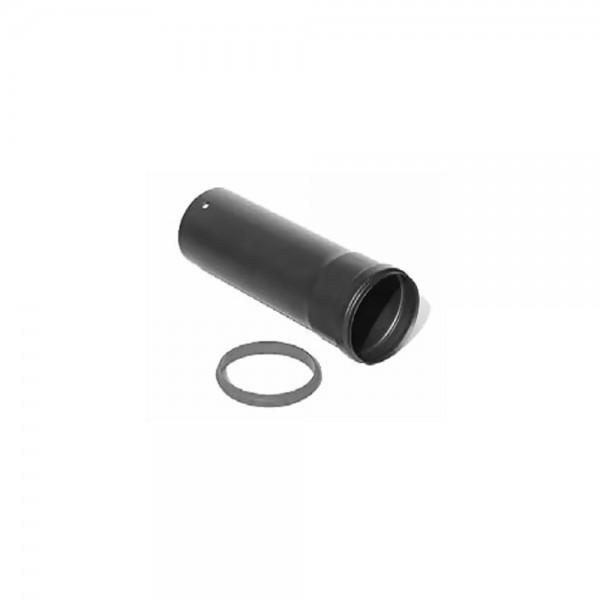 MCZ gerades, lackiertes Rohr (100 cm lang, Ø 8 cm) mit Silikondichtung für die Installation des vert