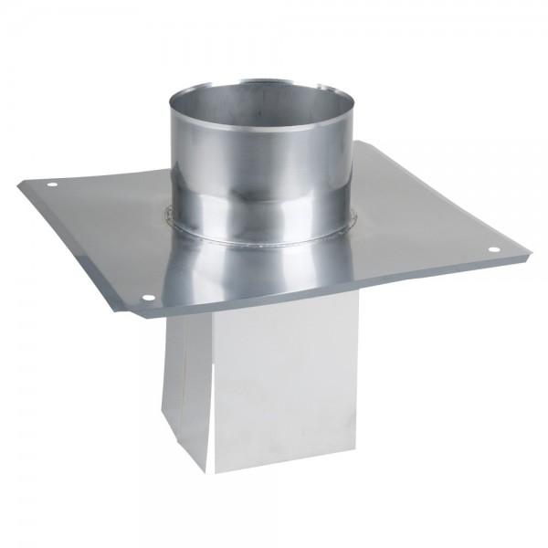 Fußteil mit Einschub einwandig 130 x 130 mm auf 150 mm