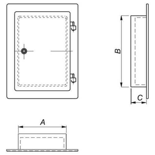 Schornstein, Sanierung, Tür