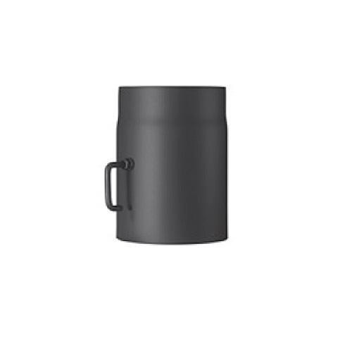 Ofenrohr, doppelwandig mit Dämmung, Drosselklappe, System Primus, 130 mm