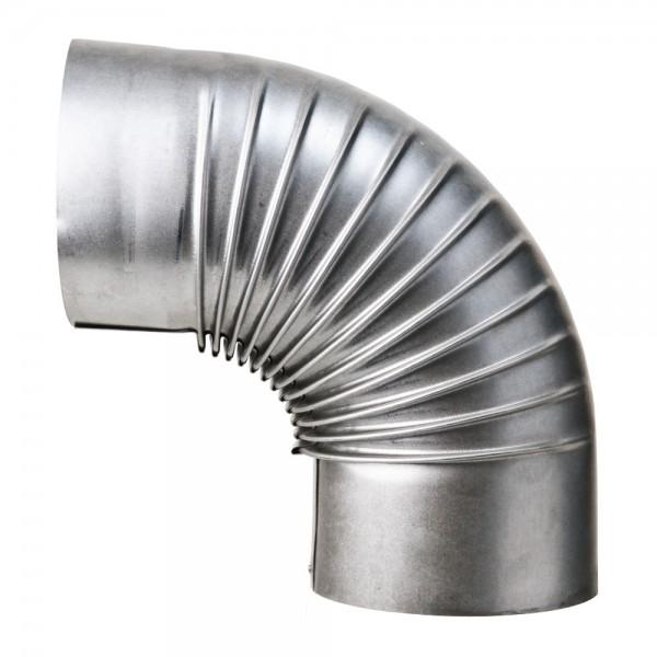 Bogen, gerippt, 90°, ohne Reinigungs-Öffnung, ø 110 mm