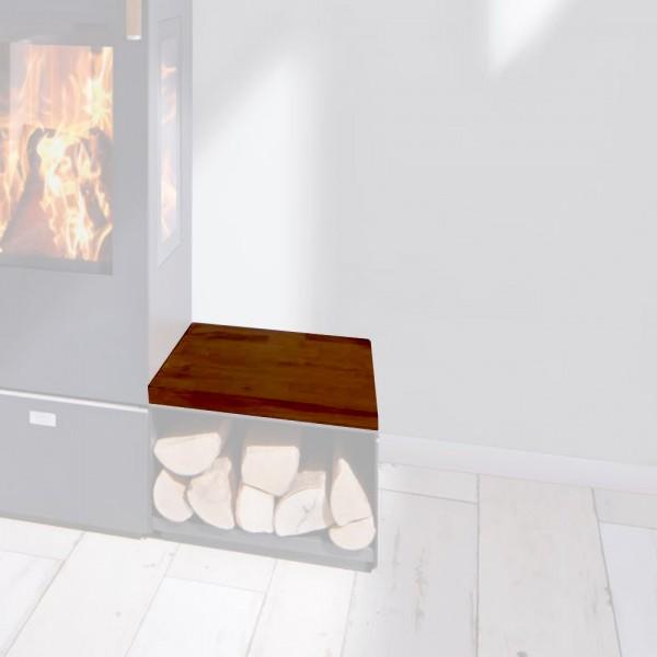 Cera Design Holzabdeckung gebeizt, Breite 44 x 44 cm, KaminofenSantos und Santos plus