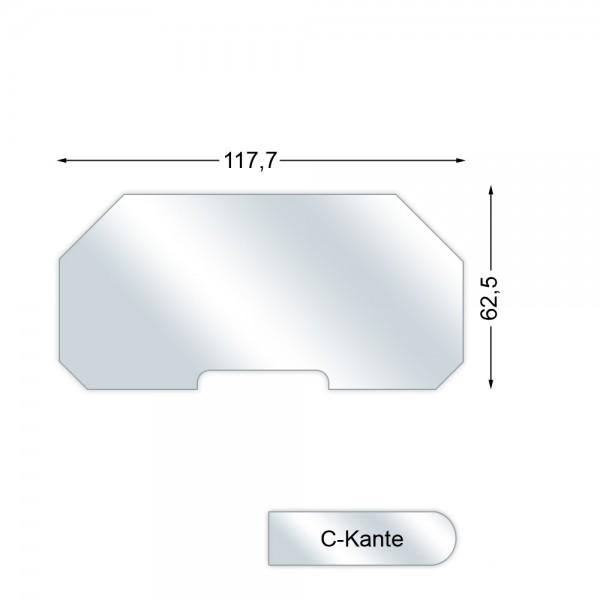 CERA Design Glasvorlegeplatte, 1177 x 625 mm, Kaminofen Pepper 20