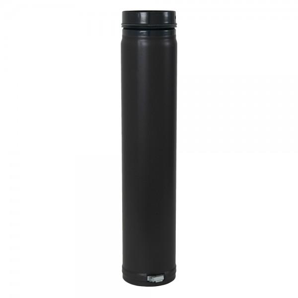 Ofenrohr, verstellbar, Spannring, mit Sicke und Gummidichtung, ø 80 mm x 750 mm