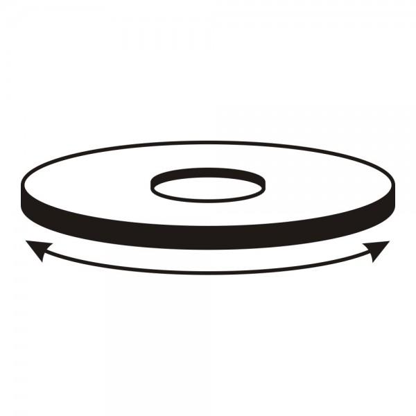 CERA Design Drehteller, schwarz lackiert, inkl. drehbarem Rauchgasstutzen, Kaminofen faro