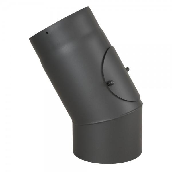 Ofenrohr, Rauchrohr, Bogen, Senotherm, 30°, mit Tür, ø 130 mm