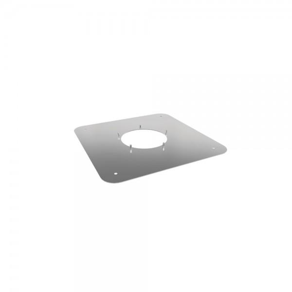 Quadratische Schraubplatte für Airjekt 1 Top, 400 x 400 mm, Schraubplatte aus Edelstahl für gemauert