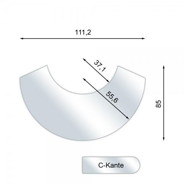 Glas-Vorlegeplatte, Funkenschutzplatte für Kaminofen DROOFF VARESE 2 und VARESE 2 W