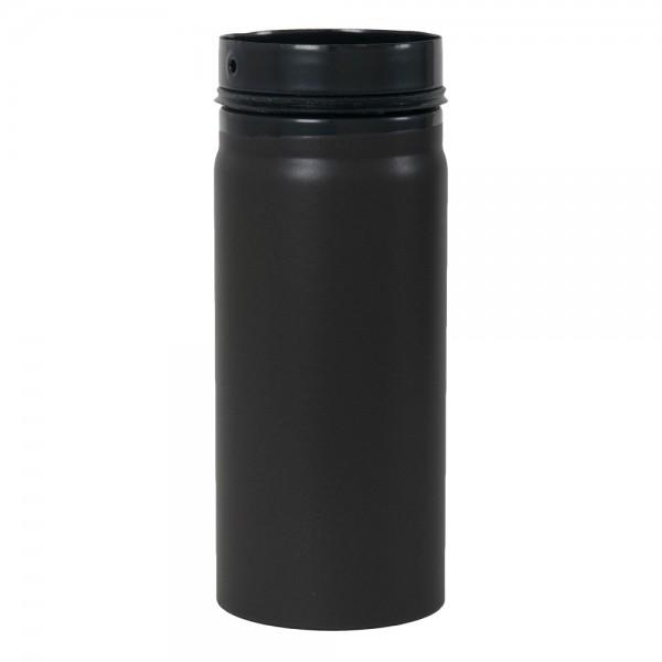 Ofenrohr, zylindrisch, eingezogen, mit Sicke und Gummidichtung, ø 125 mm x 250 mm