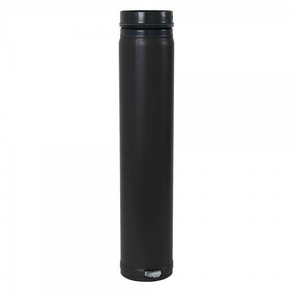 Ofenrohr, verstellbar, Spannring, mit Sicke und Gummidichtung, ø 125 mm x 750 mm
