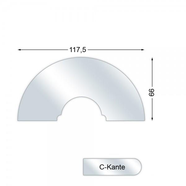 CERA Design Glasvorlegeplatte, 1175 x 660 mm, Kaminofen Pepper 10