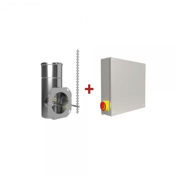 Feinstaubpartikelabscheider Airjekt 1 Outdoor mit Wetterschutzkasten zur Montage der Steuerung im Au