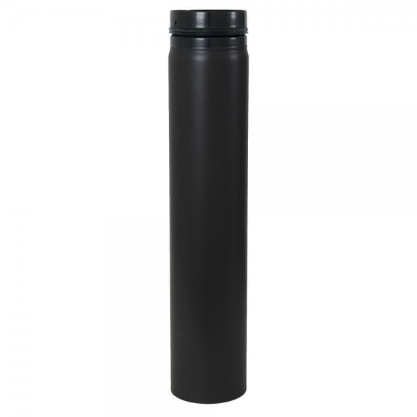 Ofenrohr, zylindrisch, eingezogen, mit Sicke und Gummidichtung, ø 125 mm x 750 mm