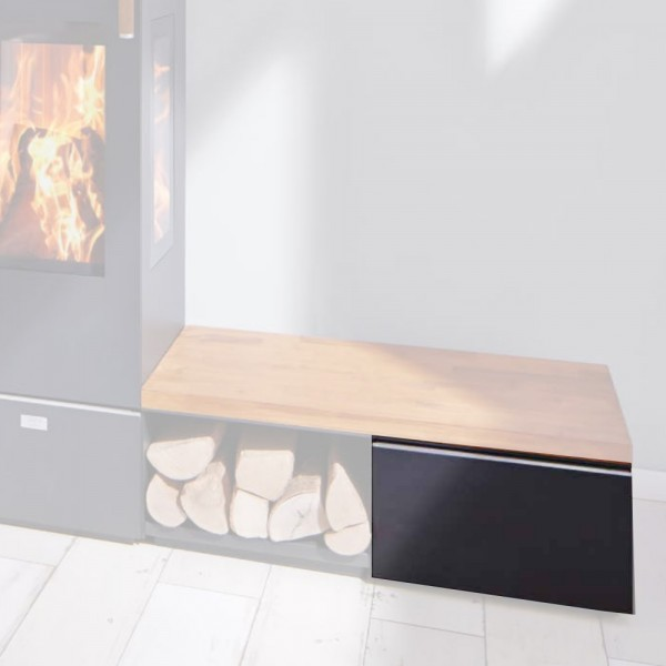 Cera Design Anbauelement Lade, Breite 44 cm, Kaminofen Santos und Santos plus