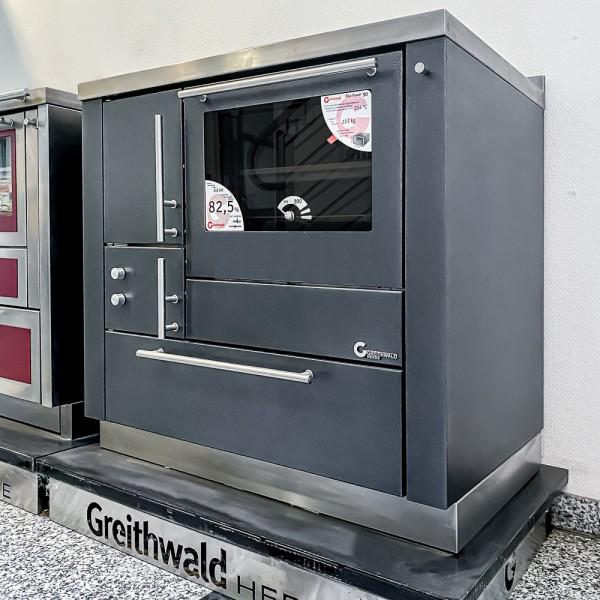 Herd Greithwald ÖkoPower 90 (7,3 kW), Antik Schwarz, Ausstellungsgerät ungebrannt !! TOP Preis!!