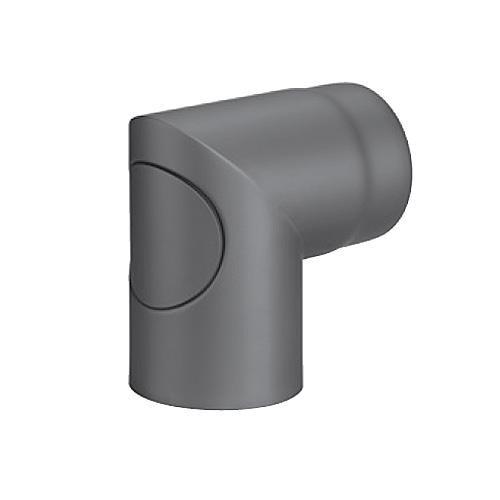 Kaminrohrbogen, Ofenrohrbogen, Ofenrohr, 90°, mit versenkter Tür, ø 130 mm