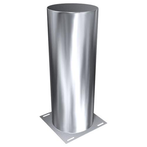 Schornstein, Standfuß L=995 mm, Edelstahl, ø 250 mm (310 mm)