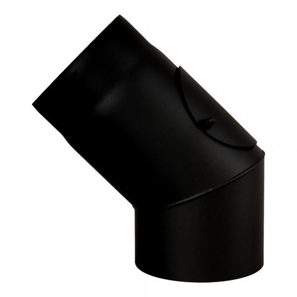 Ofenrohr, Rauchrohr, Bogen, Senotherm, 45°, mit Tür, ø 130 mm
