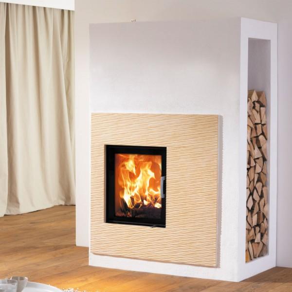 AUSTROFLAMM Keramik Sandstein mittel mit Holzlagerfach, für Design-Kamin Kera Xtra 45