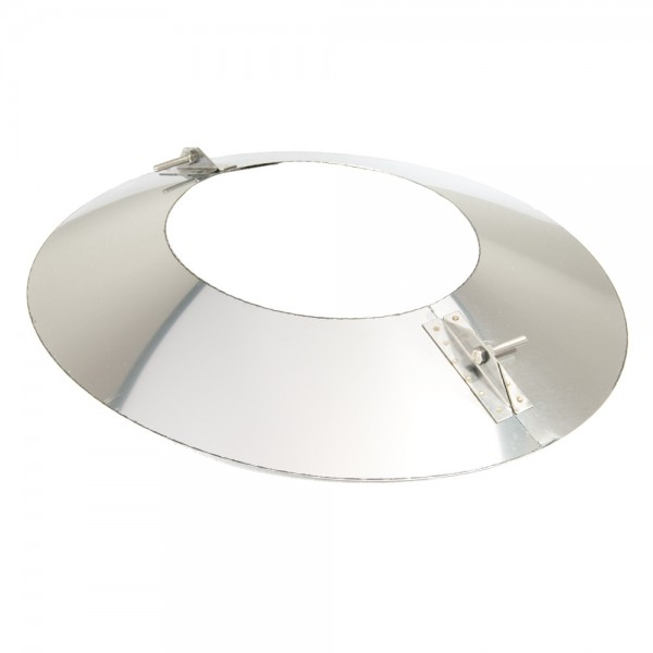 Schornstein, Wandblende oval 2-teilig 30°, Edelstahl, ø 250 mm (310 mm)