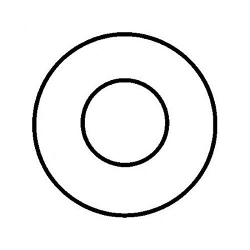 Rosette, starr, ø 150 mm